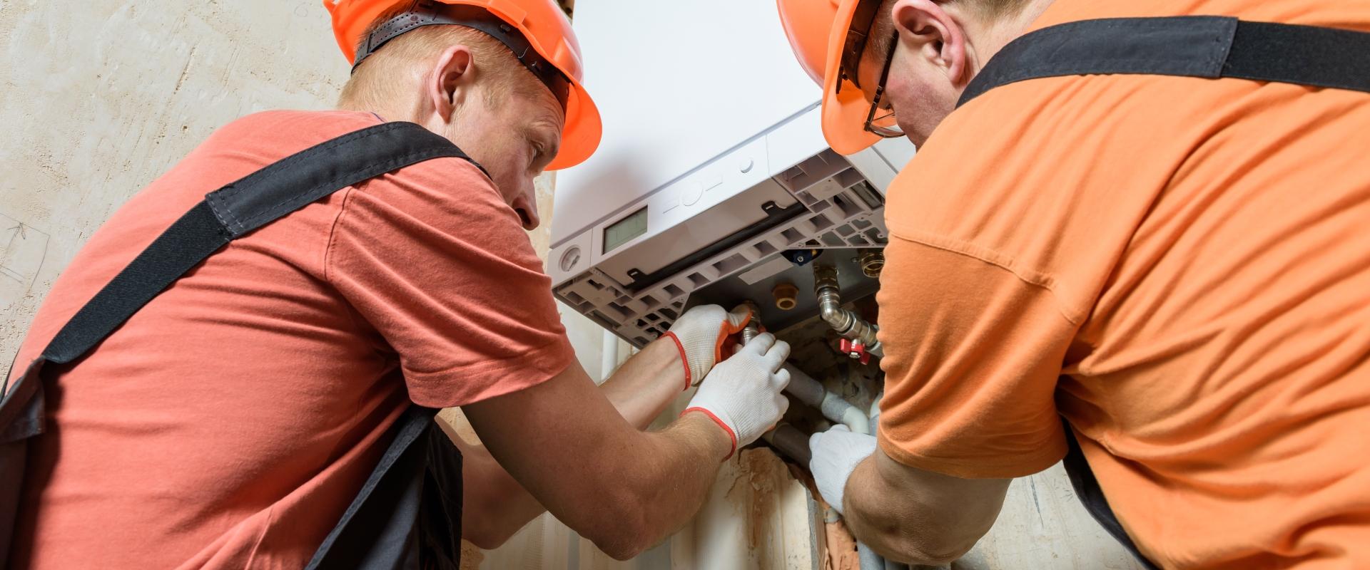 Men Doing Daily Maintenance on Boiler
